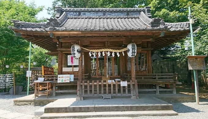 川越熊野神社拝殿正面の風景