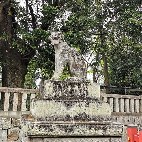 総門前右の狛犬