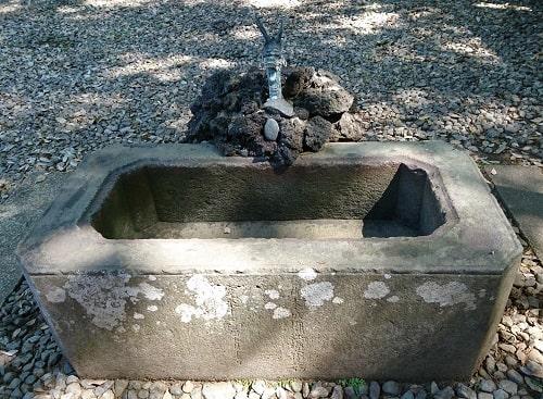江戸城から移設された仙波東照宮の手水舎