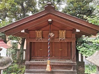 境内社の大国主神社と恵比寿神社の正面画像