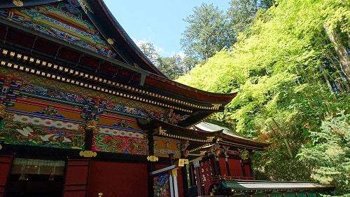 拝殿横からの風景