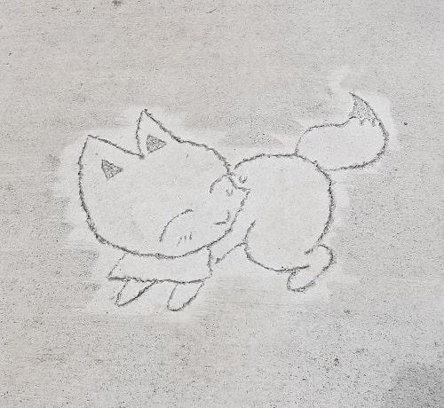 参道に刻まれている狐さん3つ目