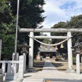 平柳星宮神社の一の鳥居正面の風景