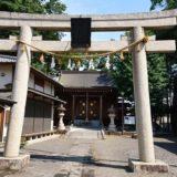川越日枝神社の鳥居と拝殿の風景