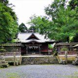 参道から撮影した拝殿の風景
