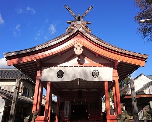 秩父今宮神社の本殿の風景