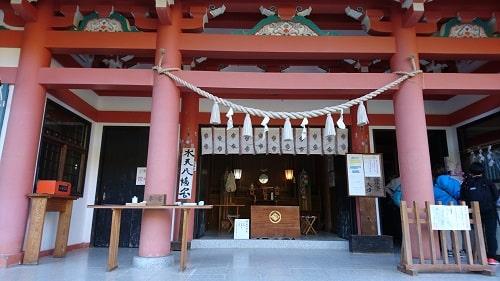 夫婦木神社姫の宮の拝殿正面の風景