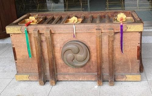 お賽銭箱の上にある鈴の画像