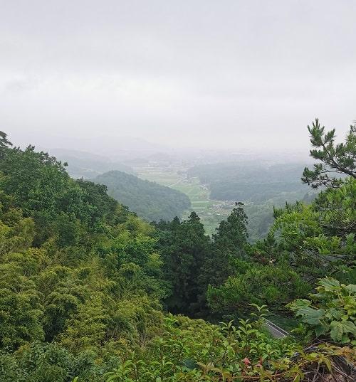 天狗岩から眺めた景色