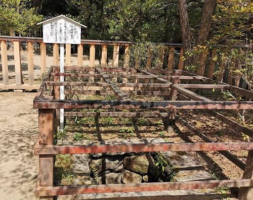 信玄公が使用していた井戸の風景