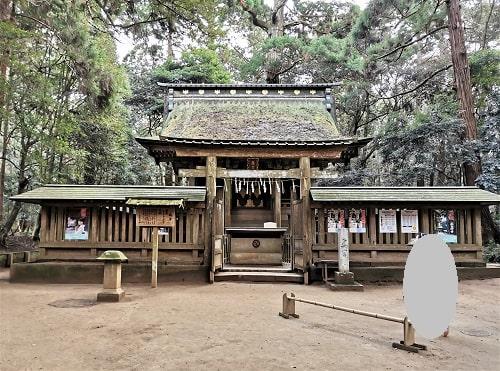 鹿島神宮の立派な奥宮の正面風景