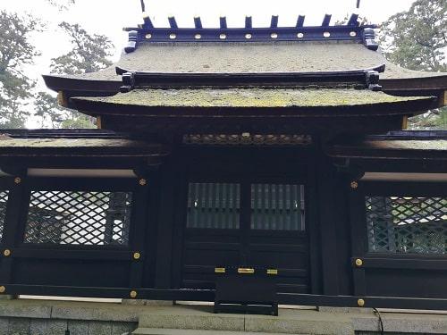 香取神宮本殿裏の風景