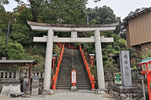 足利織姫神社の一の鳥居の風景