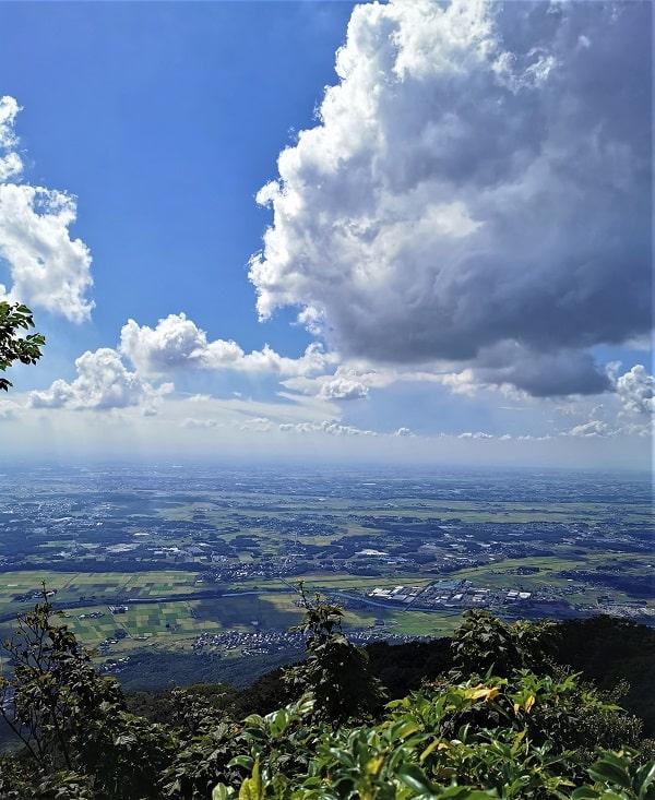 男体山頂からの景色