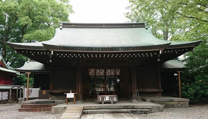 川越氷川神社拝殿の画像