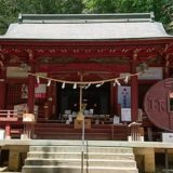 聖神社の社殿(拝殿)の正面風景