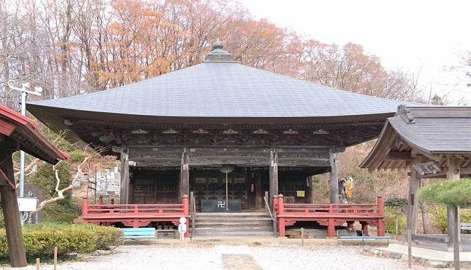 音楽寺の観音堂正面の風景