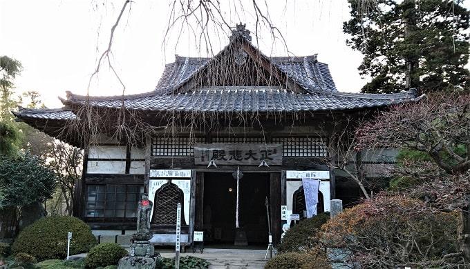 菊水寺の観音堂正面の風景