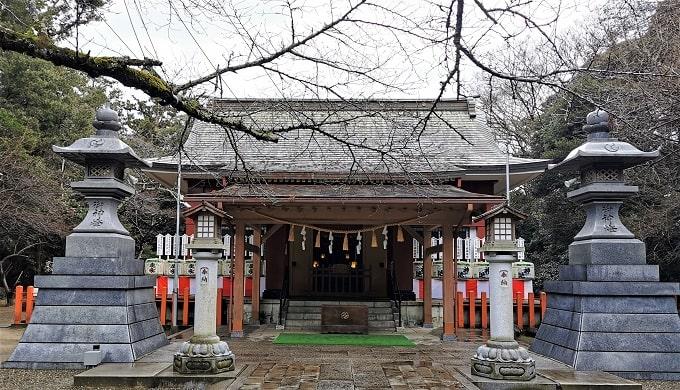 息栖神社の社殿正面風景