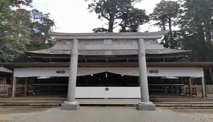 鹿島神宮拝殿正面の風景