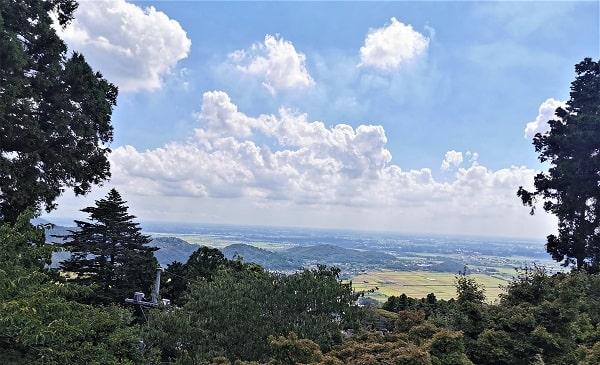 筑波山頂駅からの風景