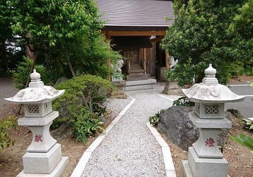 金鶏神社参道からの風景