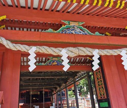 唐門の鯉の彫刻