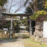 榛名神社の鳥居、奥には随神門